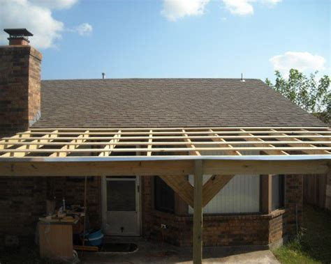 How To Build A Patio Cover by How To Build A Patio Cover With A Corrugated Metal Roof