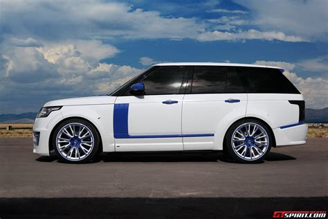 range rover blue and white white lumma design range rover vogue clr r with blue