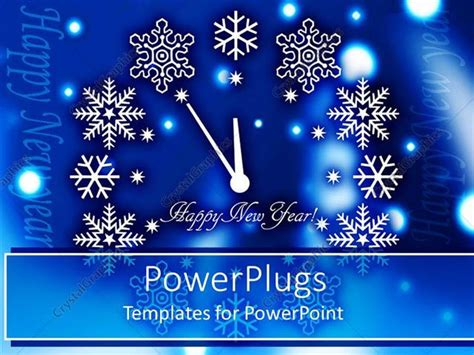 powerpoint templates for new year powerpoint template happy new year clock with various