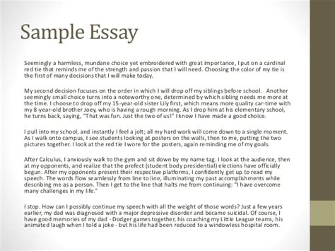 What Do You Put In A College Essay by Usc Ets College Application Essay Workshop