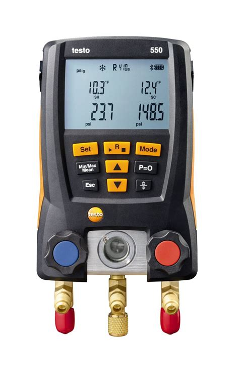 testo shout testo 550 digital manifold refrigeration parameters
