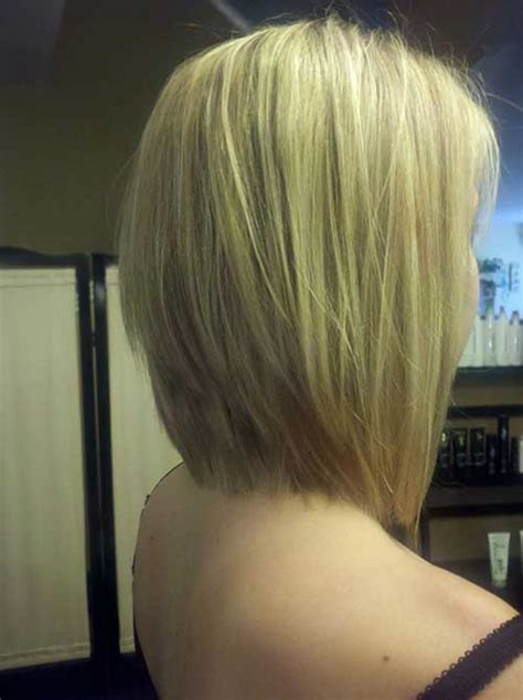 long graduated bob haircut back angel highlighted hair blondes and short blonde