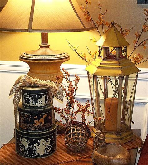how to decorate a side table in a living room end table decorating for fall fall ideas pinterest