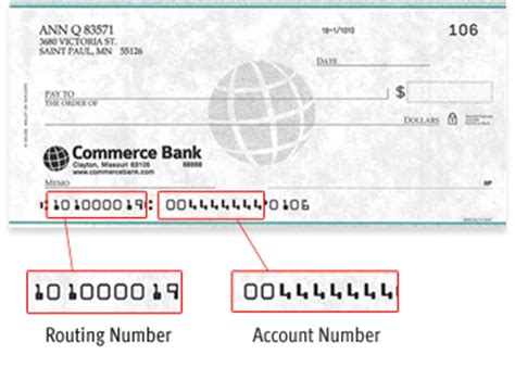 how to find bank routing number routing number commerce bank