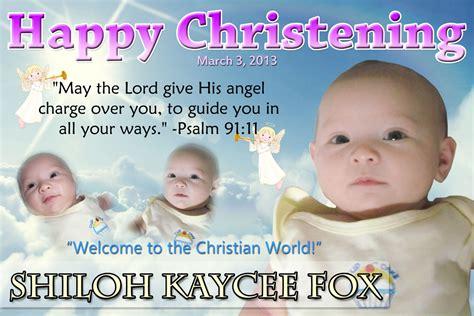 layout for tarpaulin baptismal shiloh s christening angels cebu balloons and party