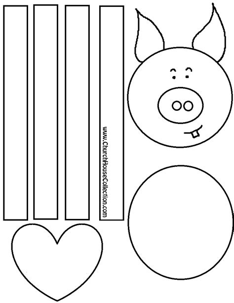 valentine pig coloring page pig craft for valentine s day for kids coloring page