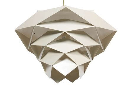 geometric white light fixture at 1stdibs