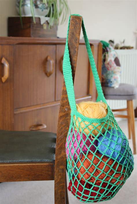 Crochet Pattern Net Bag | a one skein crochet mesh bag free pattern zeens and roger