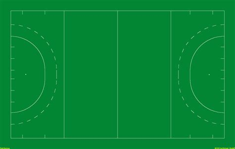 diagram of a hockey pitch sports field templates
