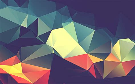 wallpaper triangles colorful hd abstract