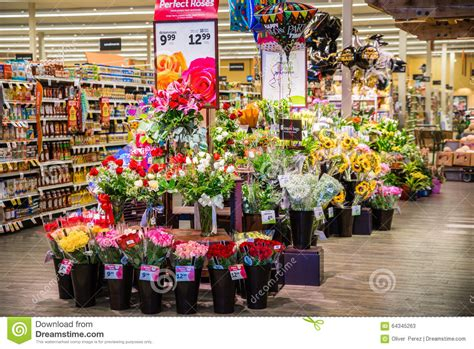 Floral Stores by Grocery Store Flowers Editorial Stock Photo Image 64345263