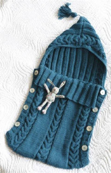 Baby Knitted Sleeping Bag aran baby sleeping bag tassel button sides 0 3