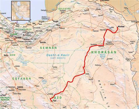 mashhad map map yazd to mashhad travellingtwo bicycle touring