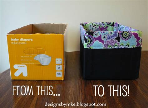 diy storage box mandy s krafty exploits lined canvas diaper box
