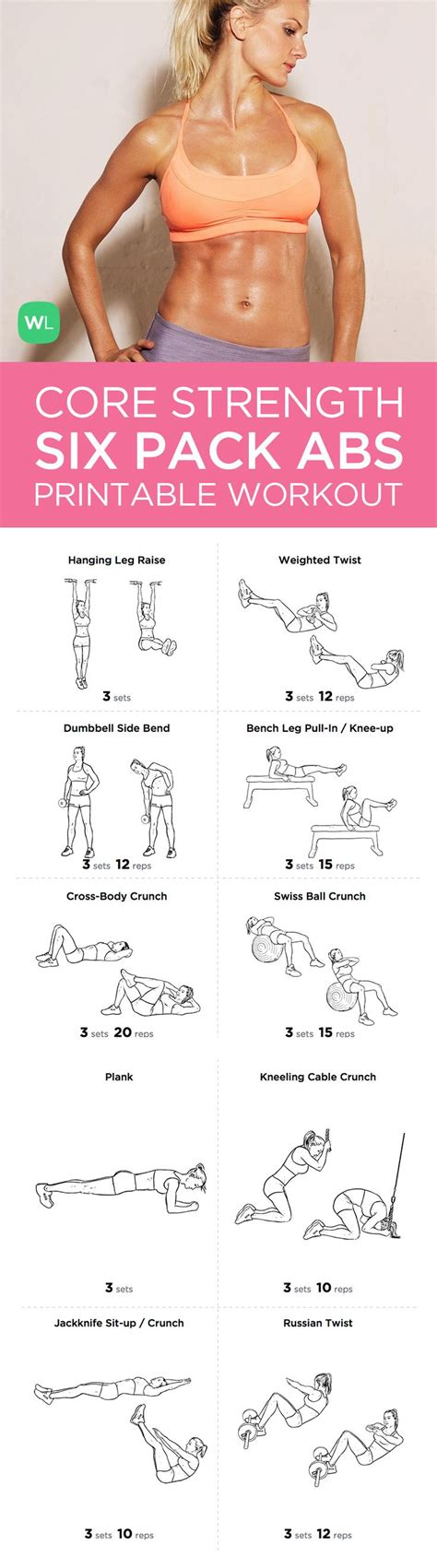 10 strength 6 pack abs exercise routine