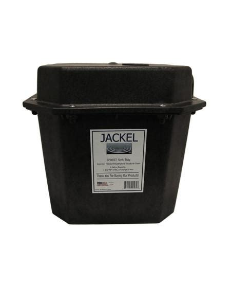 pre plumbed sink tray system sump jackel sink laundry tray basin 6 gallon sump