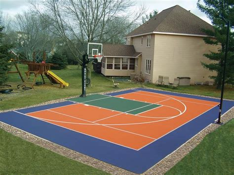 sports courts for backyards backyard courts gallery sport court