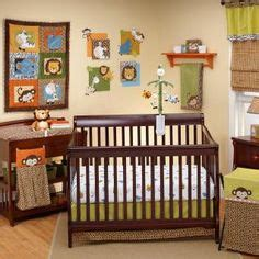 Green And Brown Monkey Crib Bedding by Possibilities For The Babies Nursery On