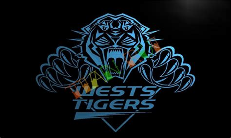 Neon Sign Home Decor Ld387 Wests Tigers Led Neon Light Sign Home Decor Crafts In Plaques Signs From Home Garden