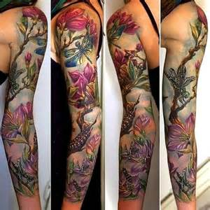 Garden Of Sleeve 40 Seductive Sleeve Tattoos For Amazing Ideas