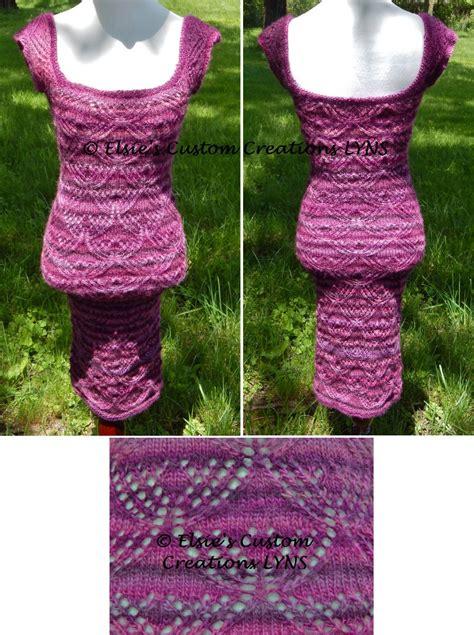 Lotus Lace Dress purple lotus lace dress pdf knitting pattern