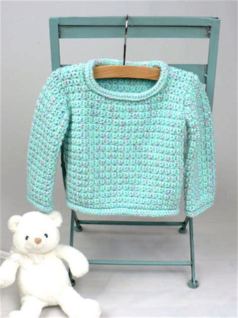 baby pullover sweater crochet pattern favecraftscom