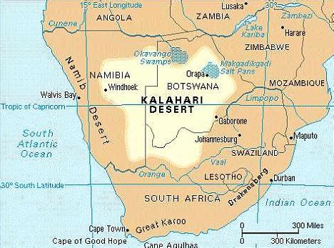 africa map of deserts modern evolved in southern bushmen daily
