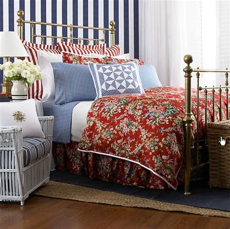 ralph lauren bedding outlet lauren by ralph lauren belle harbor red floral european