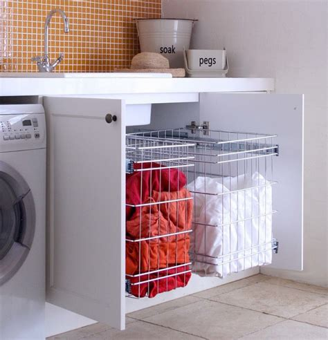 Laundry Storage Solution Modern Baskets Sydney By Laundry Solutions