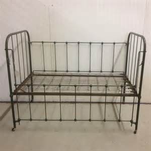 Vintage Baby Crib Vintage Iron Baby Crib With Springs Photo By Vintagethistlemarket