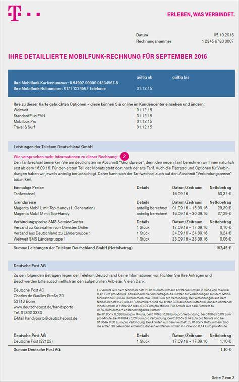 Muster Kündigung Telekom Festnetz Ihre Mobilfunk Rechnung Telekom Hilfe