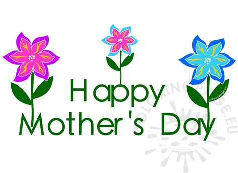 mother s day 2017 flowers clipart mothers day 2017 flowers coloring page