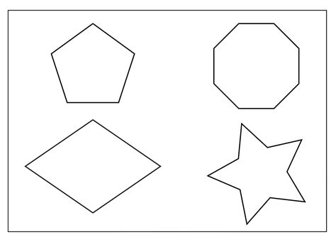 shape coloring pages free coloring pages of 2d shapes