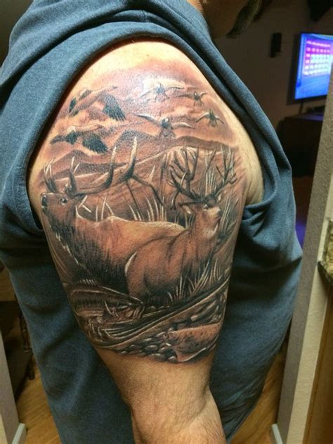 elk tattoos wildlife deer elk