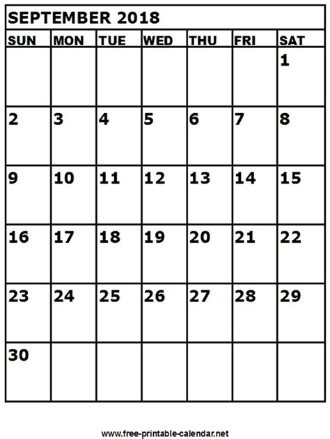 free printable calendar net free printable calendar september 2018