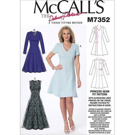 dress pattern fit and flare misses jewel or v neck fit and flare dresses mccalls