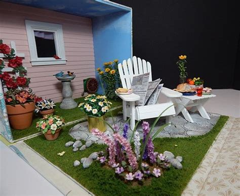 backyard dollhouse dollhouse miniature 1 12 scale backyard garden roombox