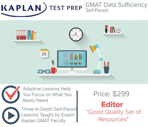 Kaplan Mba Prep Course by Kaplan Gmat Data Sufficiency Self Paced Course Test Prep