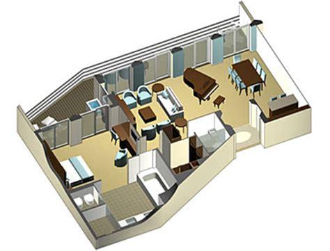 penthouse layouts penthouse suite with veranda onboard celebrity solstice