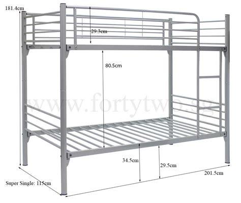 Standard Bunk Bed Mattress Size Bunk Beds Dimensions Best Home Design 2018