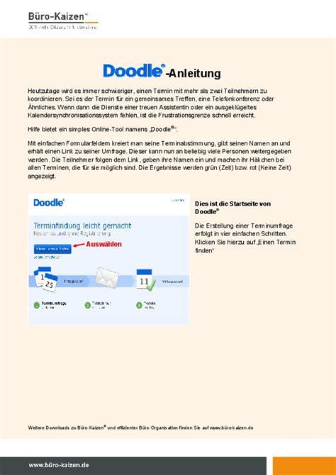 doodle umfrage erstellen anleitung downloads zum buch f 252 r immer aufger 228 umt auch digital