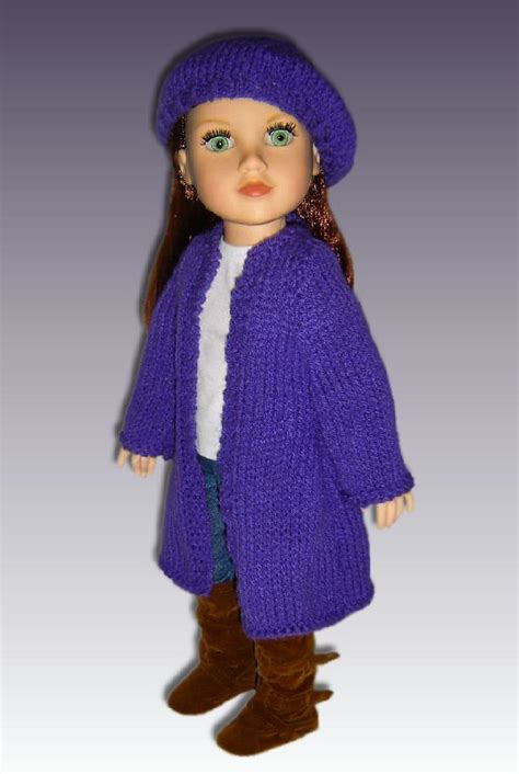 18 inch doll clothes knitting patterns doll clothes cardigan knitting pattern for 18 inch
