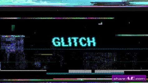 Glitch Motion Graphic After Effects Proiect Videohive 187 Free After Effects Templates After Free After Effects Template Glitch Intro