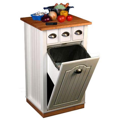 Kitchen Island Trash Bin Kitchen Carts Rolling Butcher Block Island Cart With Built In Kitchen Pantry Kitchensource