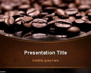 coffee beans powerpoint template