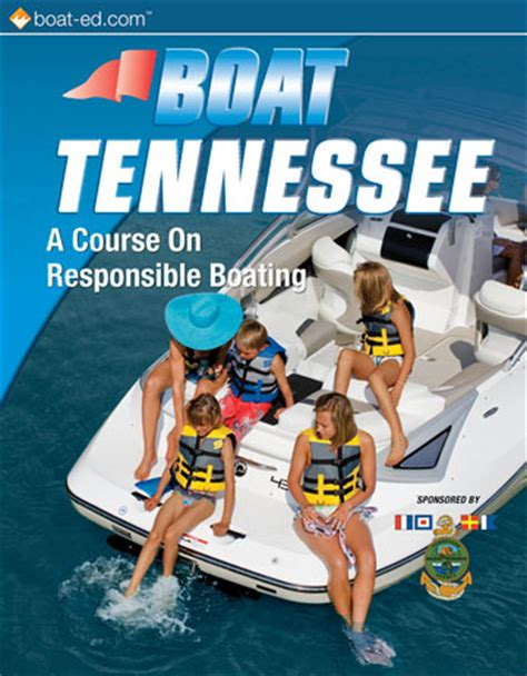 tennessee boating license laws tn boating license handbook for online boater safety course