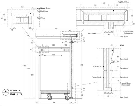 bar measurements bar counter detail drawing google search detale
