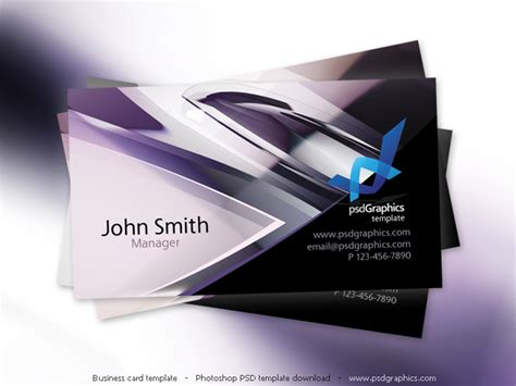Photoshop Business Card Templates Technology by Business Card Template Design Psdgraphics