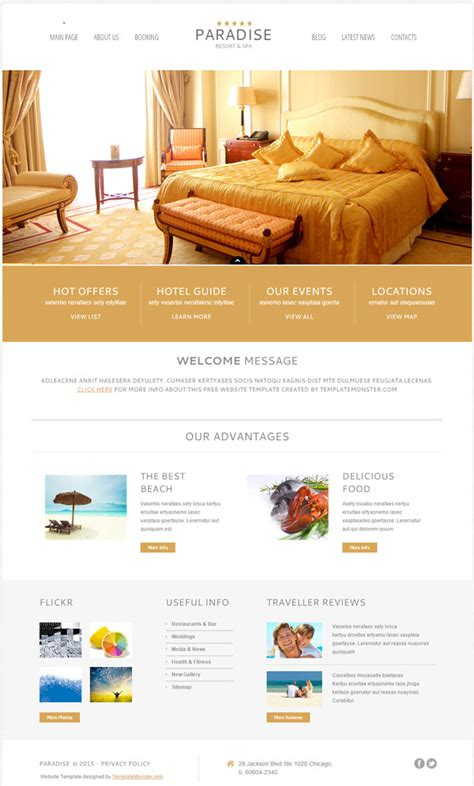 wordpress themes hotel free download 10 best free hotel wordpress themes 2017 designmaz