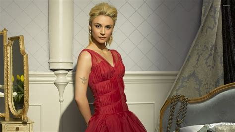 samaire armstrong wallpaper samaire armstrong with red dress wallpaper celebrity